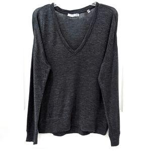 Vince Drop Shoulder Wool V-Neck Sweater sz S